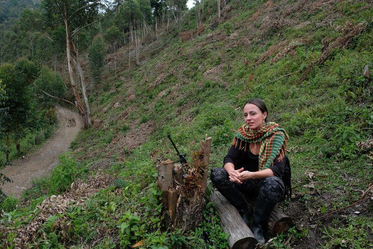 Tanja Nijmeijer in 2017 in Colombia. Beeld Getty