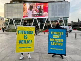 """#FitnessOpenNow voert opnieuw actie aan overheidsgebouwen en mediabedrijven: """"Fitnessen is niet gevaarlijk, het rédt juist mensenlevens"""""""