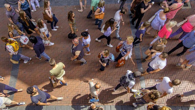 Met beelden van bewakingscamera's als deze analyseert de Spaanse start-up UDE bezoekersstromen. Beeld Shutterstock