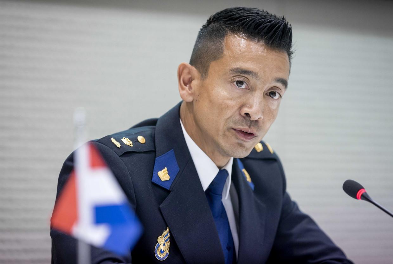 Hoofd Andy Kraag van de landelijke recherche spreekt van 'een blauwdruk van crimineel Nederland'. Beeld ANP