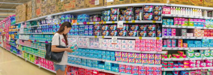 Tien procent van de vrouwen en meisjes in het Verenigd Koninkrijk geeft aan geen geld te hebben voor maandverband of tampons.