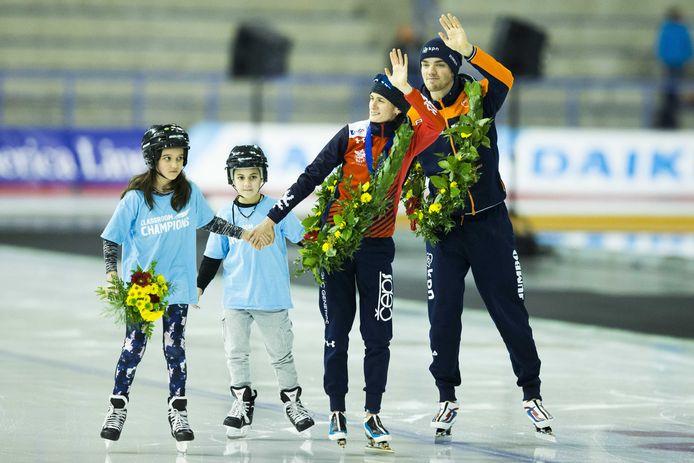Wereldkampioenen Patrick Roest en Martina Sablikova.