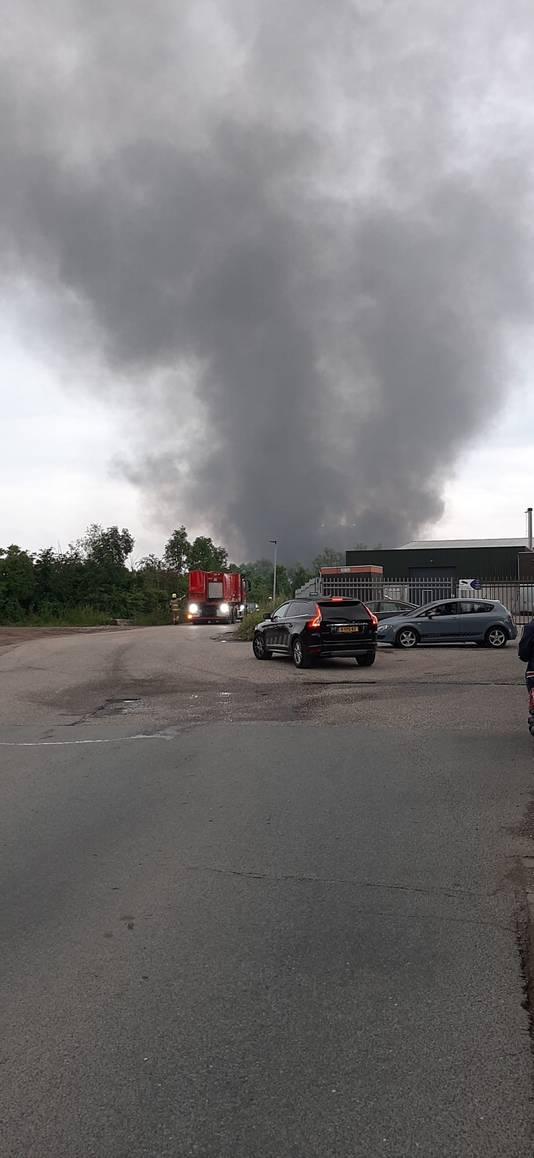 Nog een foto van de brand in Huissen.