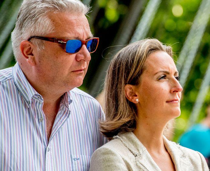 Le prince Laurent et la princesse Claire, le 21 juillet 2017.