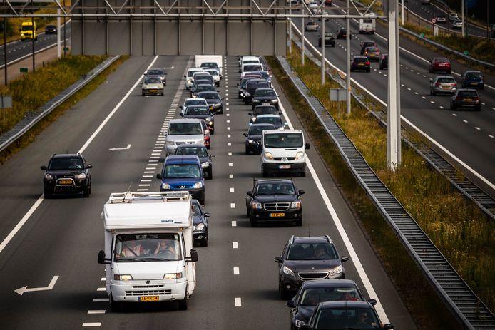 File op de A67 bij Eindhoven