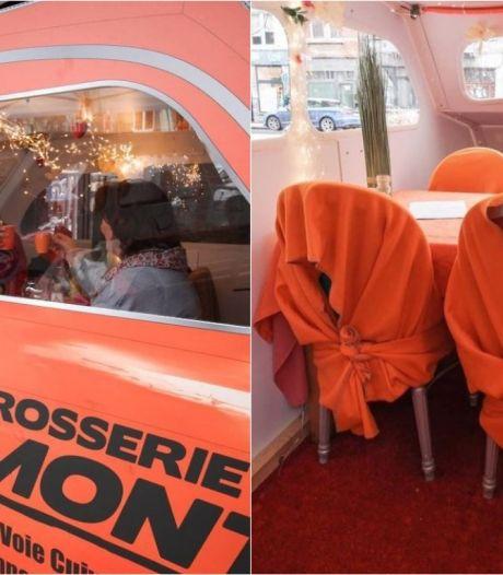 """Ce restaurant accueille ses clients dans des Fiat 500: """"On devait trouver une solution pour sauver les meubles"""""""