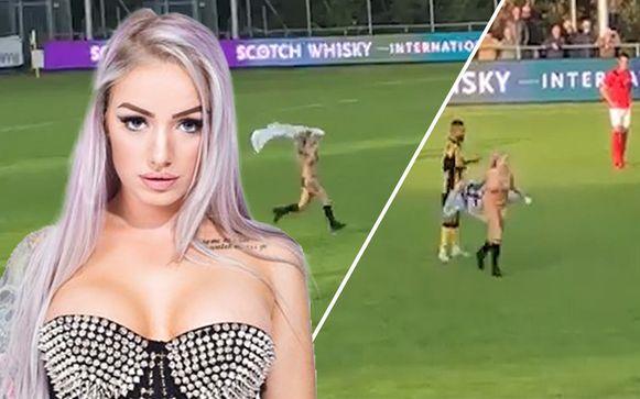 """""""Het was de eerste keer dat ik een voetbalmatch bezocht"""", aldus Striptease Foxy."""