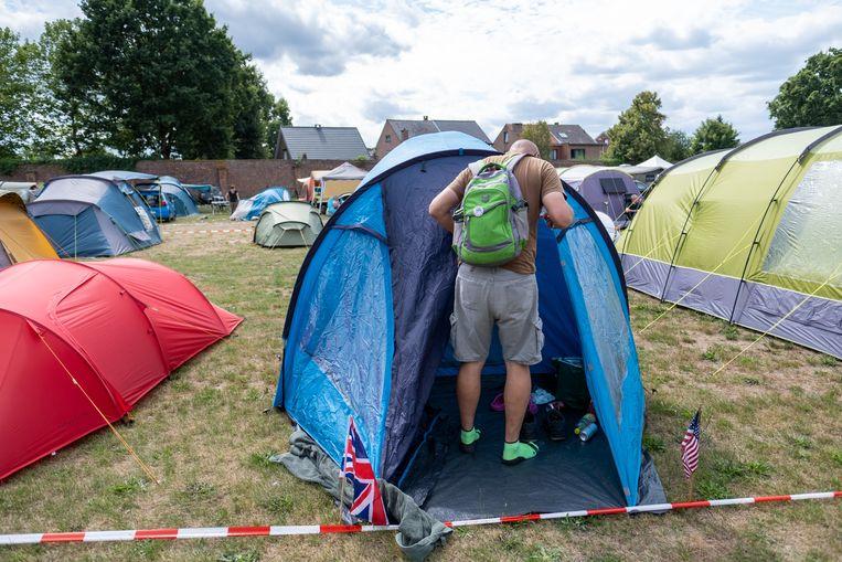 BORNEM Wandelaars voor de Dodentocht stromen toe op de camping aan de abdij