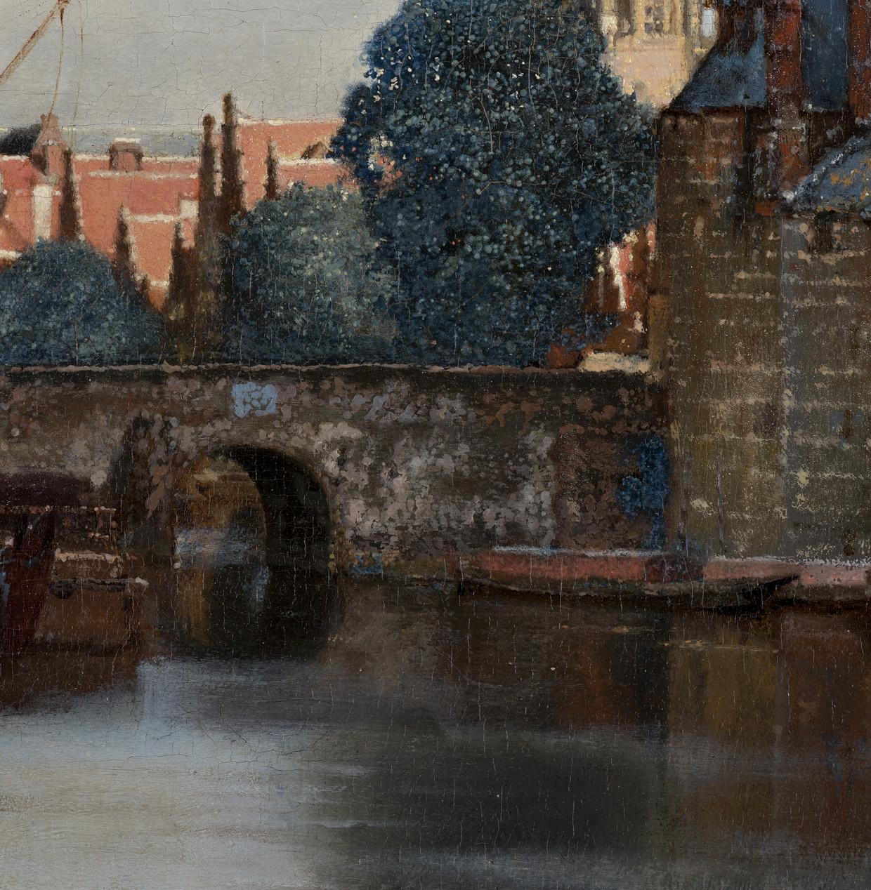 Detail uit Gezicht op Delft van Johannes Vermeer. Beeld Mauritshuis