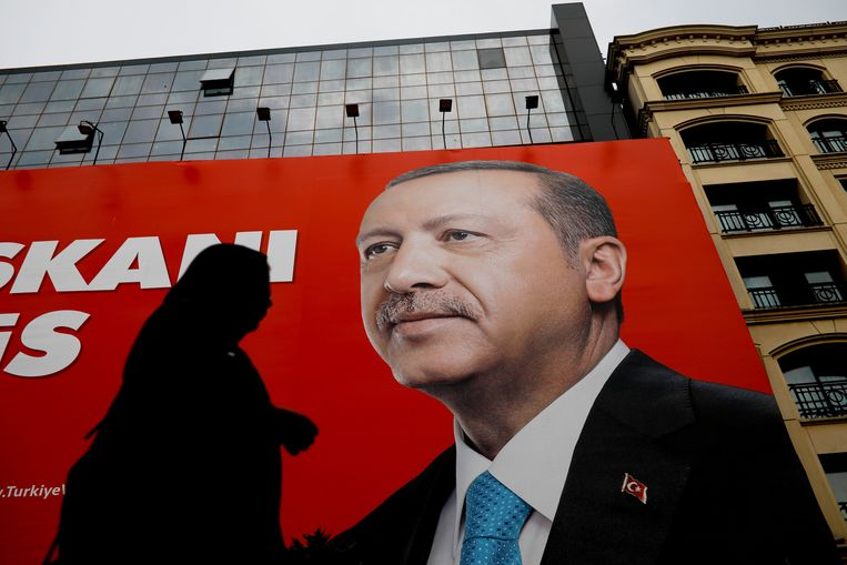 Erdogan heeft een nieuw presidentieel stelsel geïntroduceerd dat het parlement naar de achtergrond zal verdrijven.  Beeld REUTERS