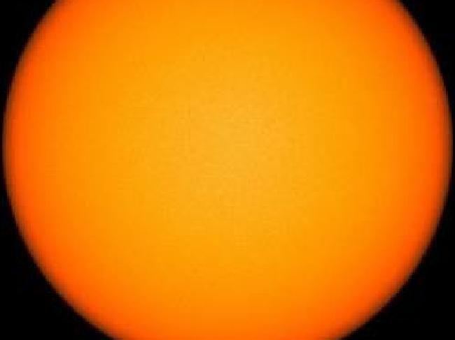 Een 'vlekkeloze' zon.