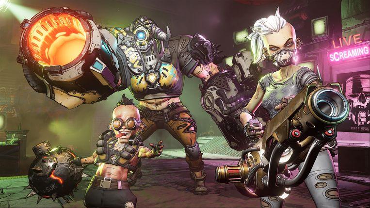 Dankzij speciale visuele technieken zien games als 'Borderlands 3' eruit als speelbare strips. Beeld 2K Games