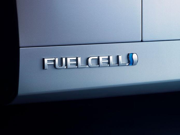 De brandstofcel in de Mirai maakt elektriciteit uit waterstof