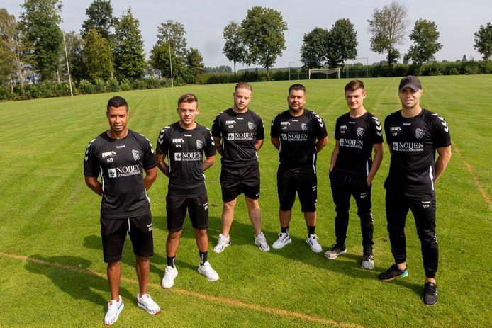 Van links naar rechts Samir Bayouni, Raoel Noijen, Koen Beekwilder, Joeri Noijen, Rico van Herwijnen en Vlado Petrovic komen RKVSC versterken.
