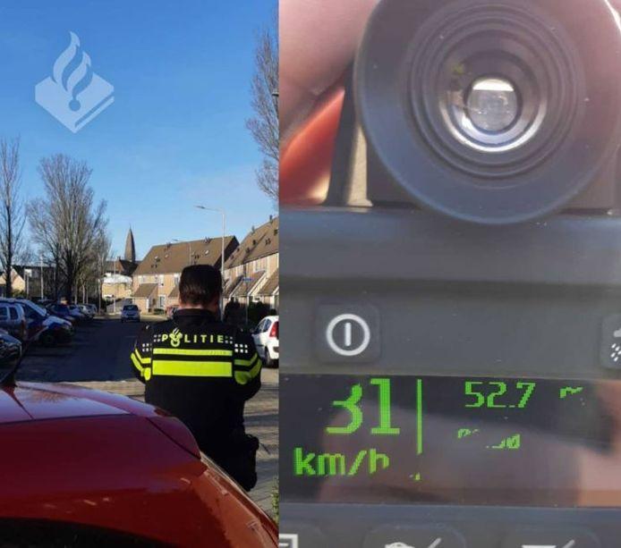 De politie houdt snelheidscontroles op de Verdilaan in Monster.