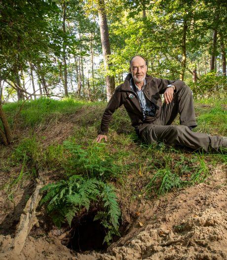 Op expeditie naar een dassenburcht bij Beuningen: 'Het beeld dat het met de das wel goed gaat, moet worden bijgesteld'