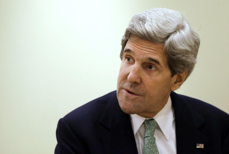 De Amerikaanse buitenlandminister John Kerry. Beeld AP