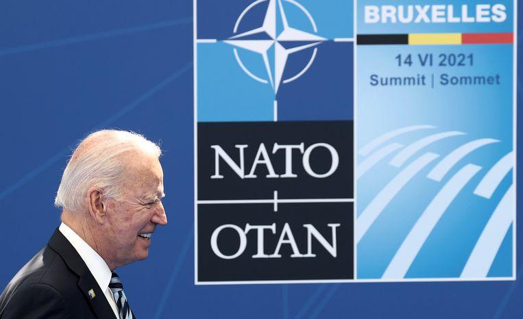 Joe Biden kwam naar Brussel om de banden met zijn NAVO-bondgenoten opnieuw aan te halen.  Beeld AP