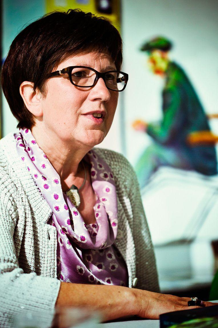 Marleen Raveel-De Muer, de weduwe van de schilder. Beeld Jonas Lampens