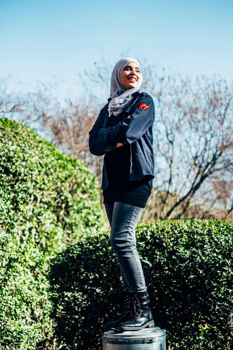 Youssra Tahiri. Beeld Thomas Sweertvaegher