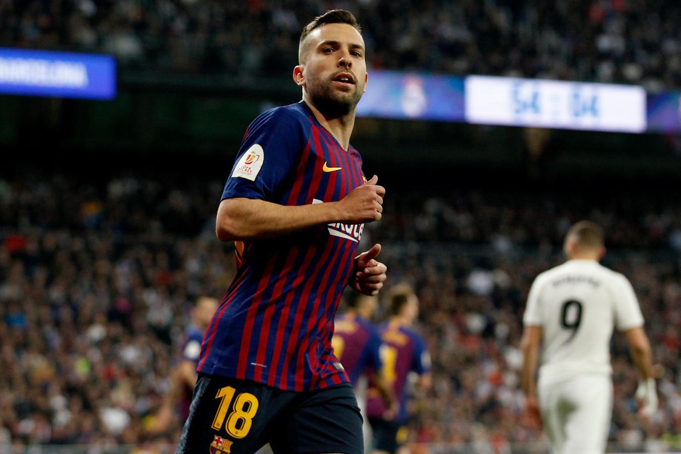 Alba tijdens de wedstrijd tegen Real Madrid.