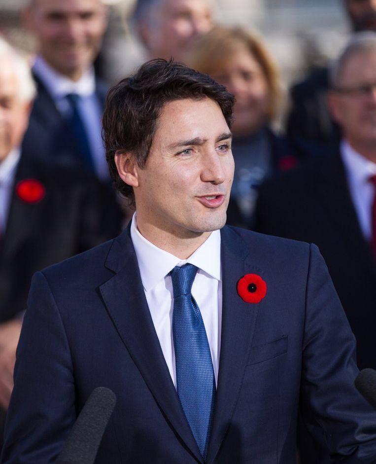 De premier van Canada, Justin Trudeau. Beeld AFP