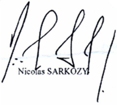 La Signature De Sarkozy Qui Fait Couler Beaucoup D Encre Insolite 7sur7 Be