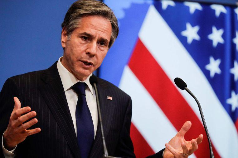 De Amerikaanse minister van Buitenlandse Zaken Antony Blinken. Beeld AFP