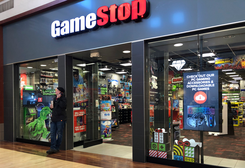 De afgelopen tijd explodeerden zelfs de koersen van zwaar verliesgevende bedrijven, zoals de koersstijging van 1.500 procent voor het aandeel GameStop. Beeld EPA
