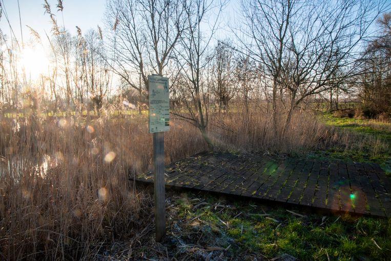 Het Molenbeekpad in Wetteren kreeg in januari nog nieuwe wegwijzers.