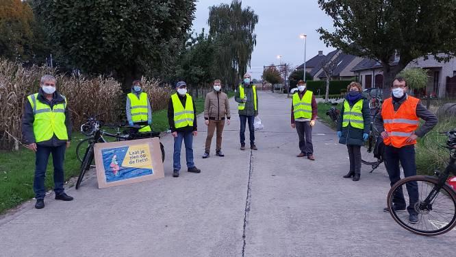 Haaltertse Fietersbond zet fietsers in spotlights tijdens actie rond fietsverlichting