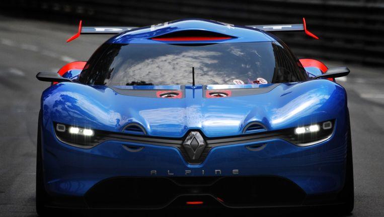 Het prototype Renault Alpine A 110-50 reed in mei 2012 enkele rondjes op het circuit van Monte Carlo. Beeld AFP