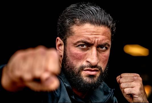 Portret van bokser Jamal ben Saddik Foto ; Pim Ras