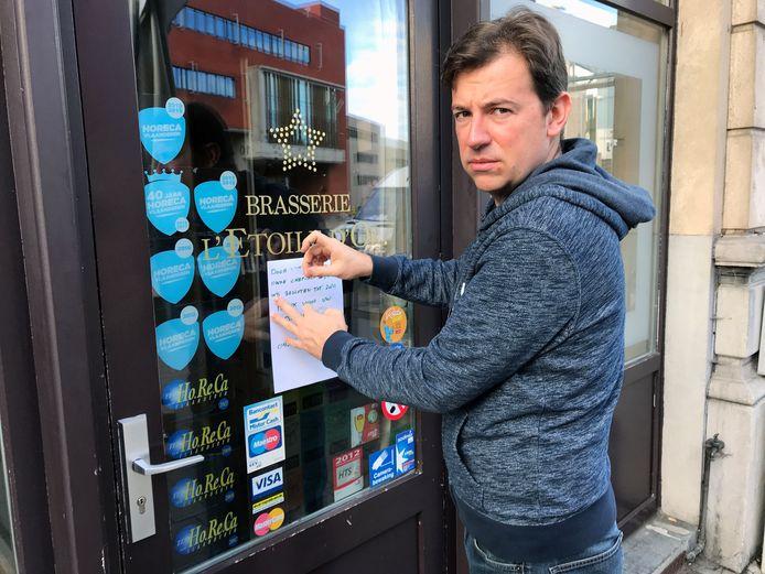 Kevin Vanderauwera moet de deur van zijn zaak L'Etoile d'Or nu al maandenlang gesloten houden en vreest dat Leuven heel wat horecazaken zal verliezen door de coronacrisis.