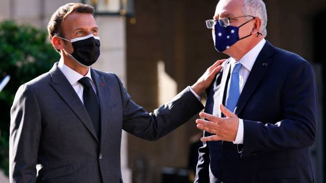"""Macron: """"Australië moet eerste stap zetten om vertrouwen met Frankrijk te herstellen"""""""
