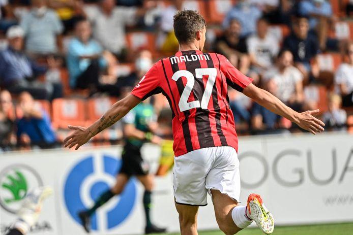 Daniel Maldini scoorde zijn eerste competitiegoal.