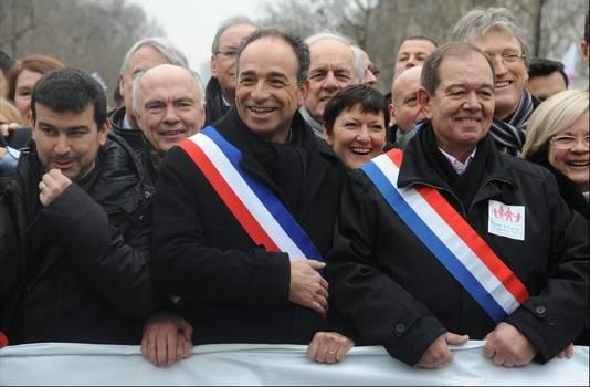 Jean-François Copé (UMP), présent lors de la manifestation contre le mariage pour tous