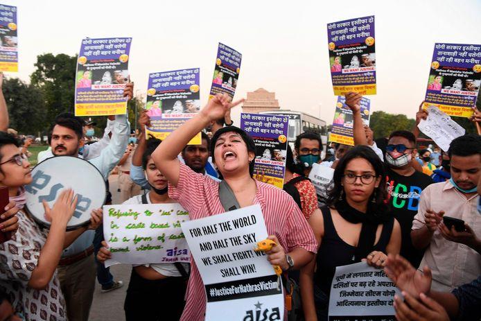In september was er nog een betoging tegen het beleid voor seksueel geweld in India.