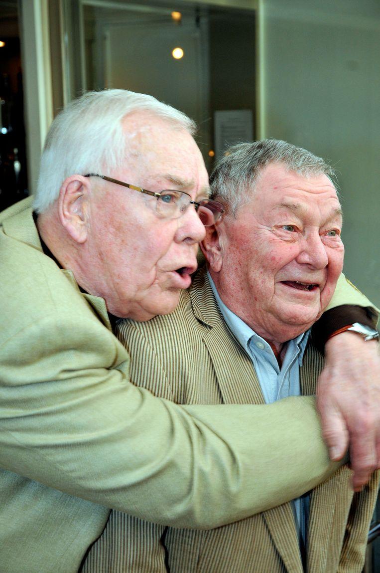 Herman Stok met zijn partner Kees van Maasdam. Beeld Hollandse Hoogte / MMP