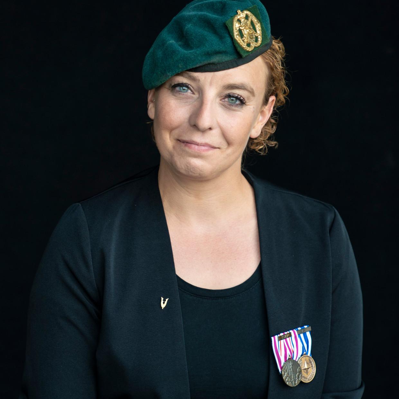 Veteraan Ingrid Heij, ging naar Afghanistan in 2010.