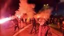 Fans van Vitesse bij het GelreDome voor de halve finale in de beker tussen Vitesse tegen VVV.