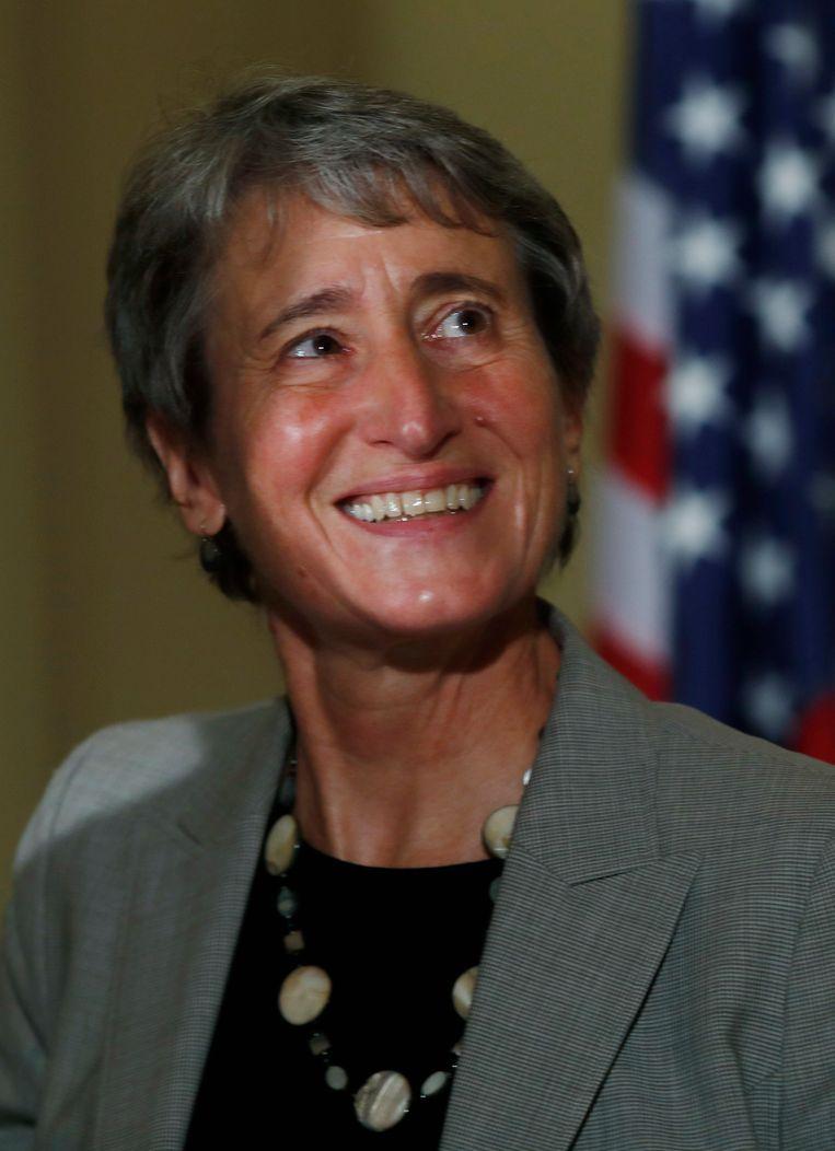 Minister van Binnenlandse Zaken Sally Jewell. Beeld AP
