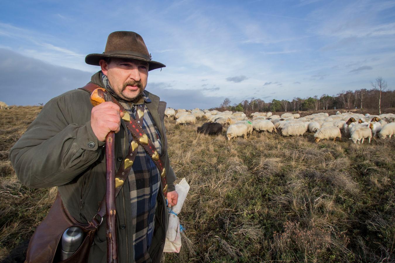 De schaapskudde van herder André Kühn is binnenkort een stuk makkelijk te traceren op de Sallandse Heuvelrug.