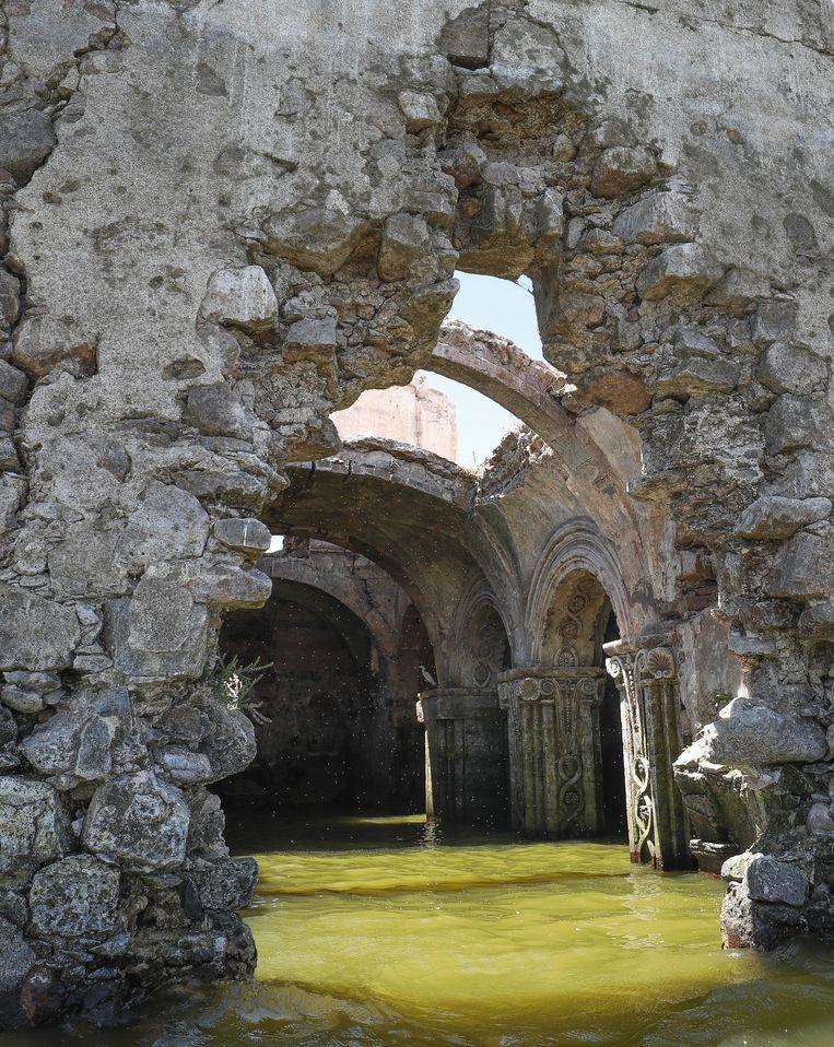 Interieur van de opgedoken kerk. Beeld EPA