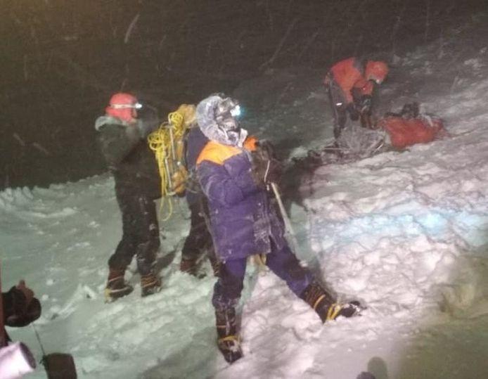 Beelden van de zware reddingsoperatie op de Elbrus.