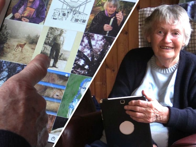 Rennie is 92 jaar en influencer op Instagram: 'Ik ben oud, maar doe m'n best'