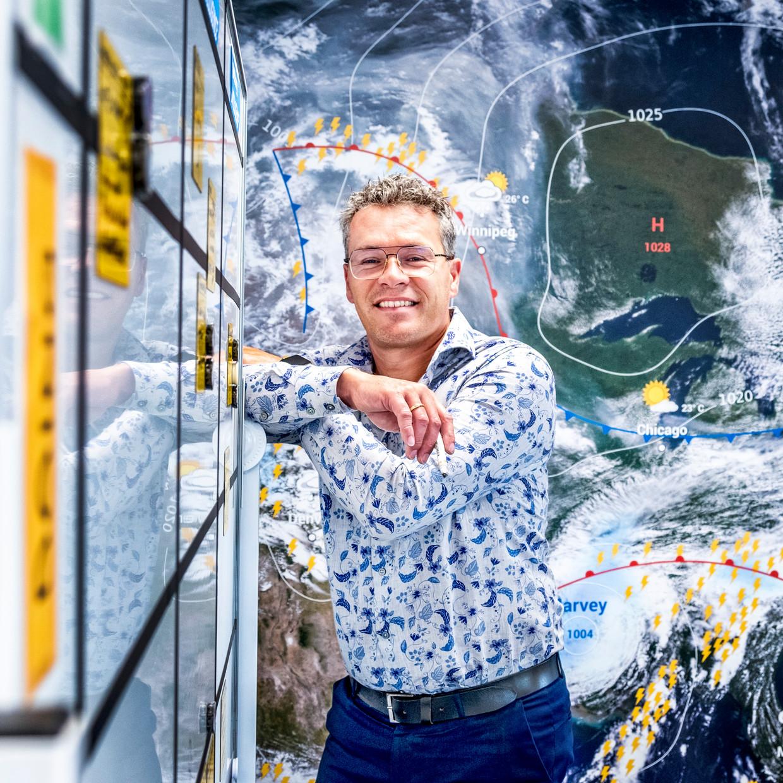 Infoplaza is eigenaar van de app Buienalarm en levert gedetailleerde voorspellingen aan grote bedrijven zoals ProRail. Beeld Raymond Rutting / de Volkskrant