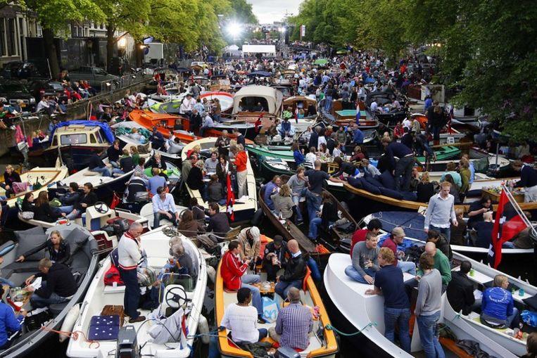 Ook het Prinsengracht concert is jaarlijks een daverend succes. Foto ANP/Valerie Kuypers Beeld