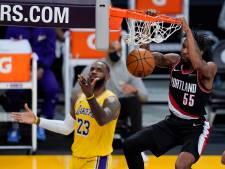 Portland dient LeBron James en Lakers alweer tweede nederlaag toe