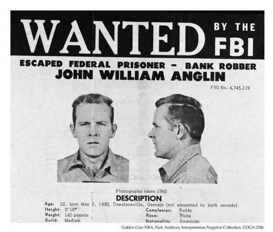 Het opsporingsbevel voor John Anglin